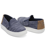 TOMS Luca Tiny Toms Slip-on Navy Striped Chambray