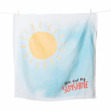 LuLujo Baby\'s First Year Milestone Blanket and Card Set You Are My Sunshine