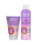 Alba Botanica Kids Sunscreen SPF 40+ Lotion & Spray Bundle