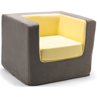 Monte Design Cubino Chair Charcoal & Yellow