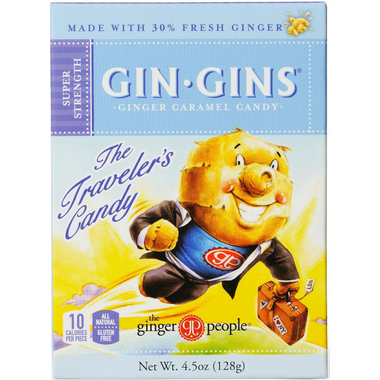 Ginger People Gin Gins Super Strength Ginger Caramel Candy