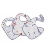 Little Unicorn Cotton Muslin Classic Bib Set Ocean Friends