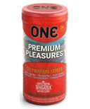 ONE Premium Pleasure 24-pack Condoms
