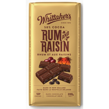 Whittaker\'s Rum & Raisin Chocolate