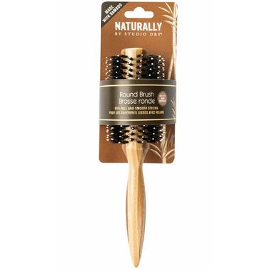 Studio Dry Striped Round Hair Brush