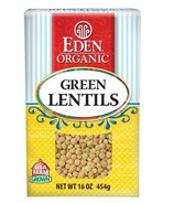 Eden Organic Dry Green Lentils