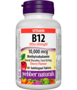 Webber Naturals Vitamin B12 Ultra Strength 10000 MCG