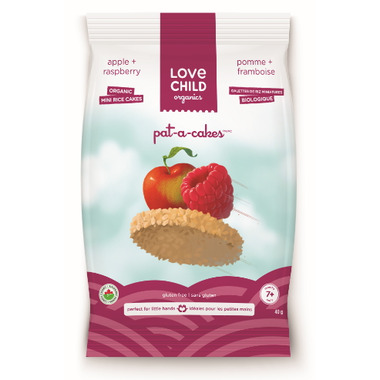 Love Child Organics Pat-A-Cake Apple & Raspberry