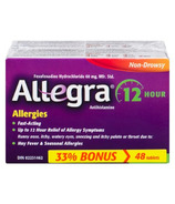 Allegra 12 Hour Allergy Tablet 60mg