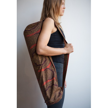 Samyoga Handmade Yoga Mat Bag Morris Red & Brown