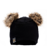 Lox Lion 3 Seasons Hat with Double Pompoms Black