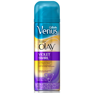 Gillette Venus with a Touch of Olay Shave Gel in Violet Swirl