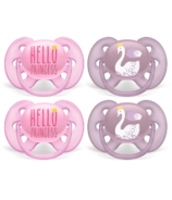 Philips AVENT Ultra Soft Pacifier Hello Princess and Swan Designs