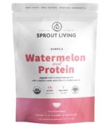 Sprout Living Protéine organique simple, graines de melon d'eau