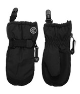 Calikids Waterproof No Thumb Mitten with Clip Black