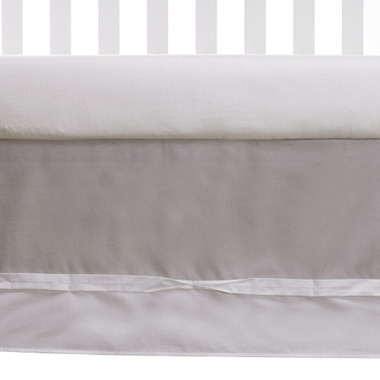 Living Textiles Bed Skirt Grey & White