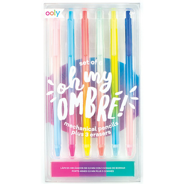 OOLY Oh My Ombre! Mechanical Pencils with Erasers