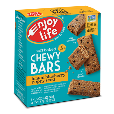 Enjoy Life Chewy Bar Poppy Seed Blueberry Lemon