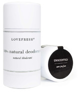 LOVEFRESH Unscented Natural Cream Deodorant Stick