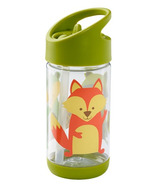 Sugarbooger Flip and Sip Clear Tritan Bottle What Did the Fox Eat