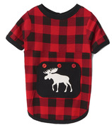 Hatley Dog Pajama Moose On Plaid