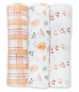 Lulujo Cotton Swaddle Beige Birds