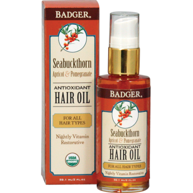 Badger Antioxidant Hair Oil for All Hair Types