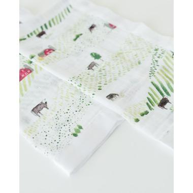 Little Unicorn Cotton Muslin Security Blanket Rolling Hills
