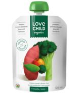 Love Child Organics Super Mélanges Pommes, Patates douces, Brocoli, Epinards