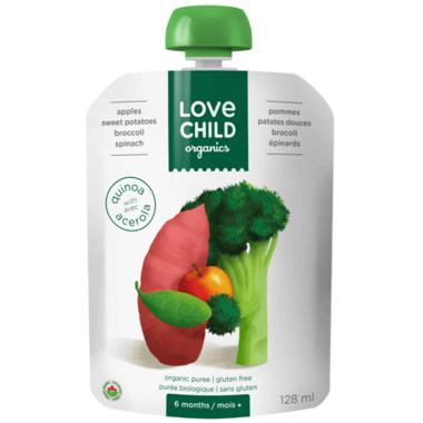 Love Child Organics Super Blends Apples, Sweet Potatoes, Broccoli, Spinach