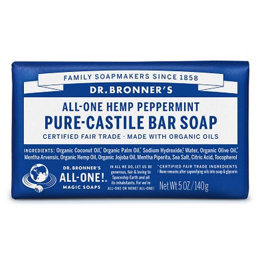 Dr. Bronner\'s Pure Castile Bar Soap Peppermint