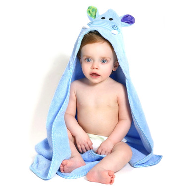 ZOOCCHINI Baby Hooded Towel Henry The Hippo