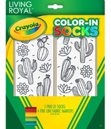 Crayola Living Royal Color-In Socks Cute Cactus