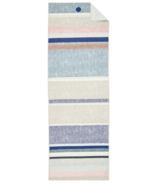 Manduka serviette de tapis rayure de lin