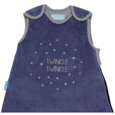 Grobag Baby Sleep Bag 2.5 Tog Twinkle Twinkle Velour