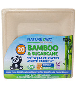 NatureZway 10 Inch Square Plates