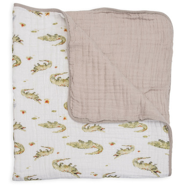 Little Unicorn Muslin Quilt Gators