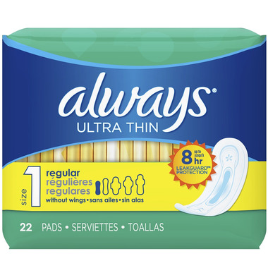 Always Ultra Thin Pads without Wings