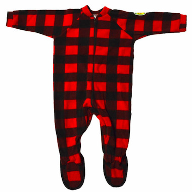 Snug As A Bug Kids Footed Onesie Canada Plaid