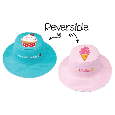 Flapjack Kids Reversible Sun Hat Cupcake & Ice Cream