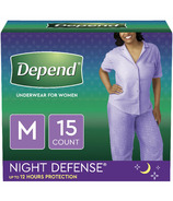 Depend Night Defense Incontinence Underwear for Women Overnight Medium