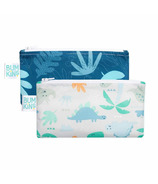 Bumkins Reusable Snack Bags Small Blue Tropic