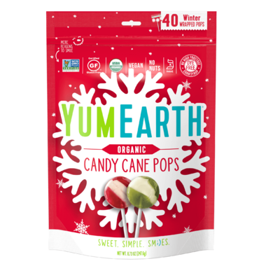 YumEarth Organic Holiday Candy Cane Pops
