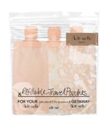 Kitsch Refillable Travel Pouches Blush