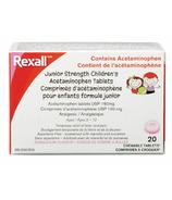 Rexall Jr. Strength Comprimés d'acétaminophène pour enfants Bubble Gum
