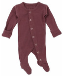 L'oved Baby Organic Footed Overall Eggplant