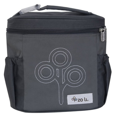Zoli Nom Nom Insulated Lunch Tote Grey
