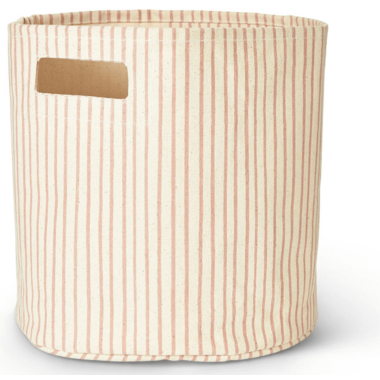 Petit Pehr Stripes Away Bin Petal