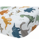 Little Unicorn Cotton Muslin Crib Sheet Dino Friends