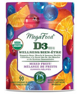 MegaFood Vitamin D3 Wellness (1000 IU) Mixed Fruit Gummies